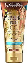 Парфюми, Парфюмерия, козметика Водоустойчив многофункционален СС крем за тяло с бронзиращ ефект - Eveline Cosmetics Brazilian Body Waterproof Multi Functional CC Cream