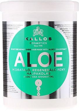 """Маска за овлажняване и възстановяване на суха и увредена коса """"Алое"""" - Kallos Cosmetics Moisture Repair Aloe Hair Mask — снимка N2"""