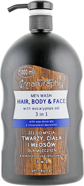 Шампоан и душ гел 2в1 с евкалиптово масло за мъже - Bluxcosmetics Naturaphy Men