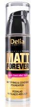 Парфюми, Парфюмерия, козметика Матиращ фон дьо тен за плътно покритие - Delia Cosmetics Matt Forever