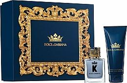 Парфюмерия и Козметика Dolce & Gabbana K by Dolce & Gabbana - Комплект за мъже (тоал.вода/50ml + афтършейв/75ml)