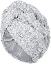 Парфюмерия и Козметика Кърпа-тюрбан за коса, сива - MakeUp
