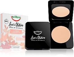Парфюмерия и Козметика Компактна пудра за лице - Equilibra Love's Nature Compact Face Powder