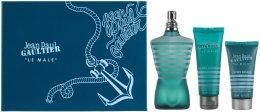 Парфюми, Парфюмерия, козметика Jean Paul Gaultier Le Male - Комплект (edt/125ml + sh/gel/75ml + a/sh/lot/50ml)
