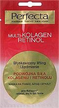 Парфюмерия и Козметика Маска за лице, шия и деколте - Perfecta Multi-Kolagen Retinol