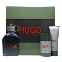 Парфюми, Парфюмерия, козметика Hugo Boss Hugo men - Комплект за мъже (edt/125ml+ ash/bal/75ml + sh/g/50ml)