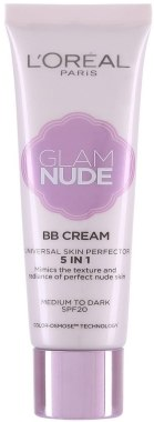 ВВ крем за лице - L'Oreal Paris Glam Nude BB Cream 5 in 1 SPF 20