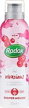 Парфюмерия и Козметика Мус за душ и бръснене - Radox Feel Vivacious Apple Blossom & Cranberry Shower Mousse