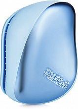 Парфюмерия и Козметика Компактна четка за коса - Tangle Teezer Compact Styler Sky Blue Delight Chrome