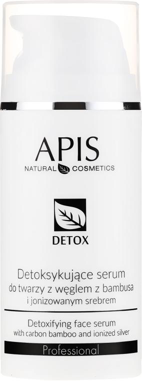 Серум-детокс за мазна и комбинирана кожа - APIS Professional Detox Detoxifying Face Serum With Carbon Bamboo And Ionized Silver