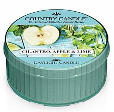 Парфюмерия и Козметика Ароматна чаена свещ - Kringle Candle Cilantro, Apple & Lime