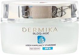 Дневен крем за лице - Dermika Bloq-Age Anti-Ageing Cream SPF15 — снимка N2