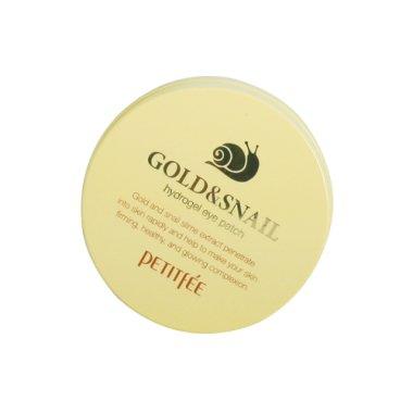 Хидрогел пачове за очи със злато и екстракт от охлюв - Petitfee & Koelf Gold & Snail Hydrogel Eye Patch — снимка N2