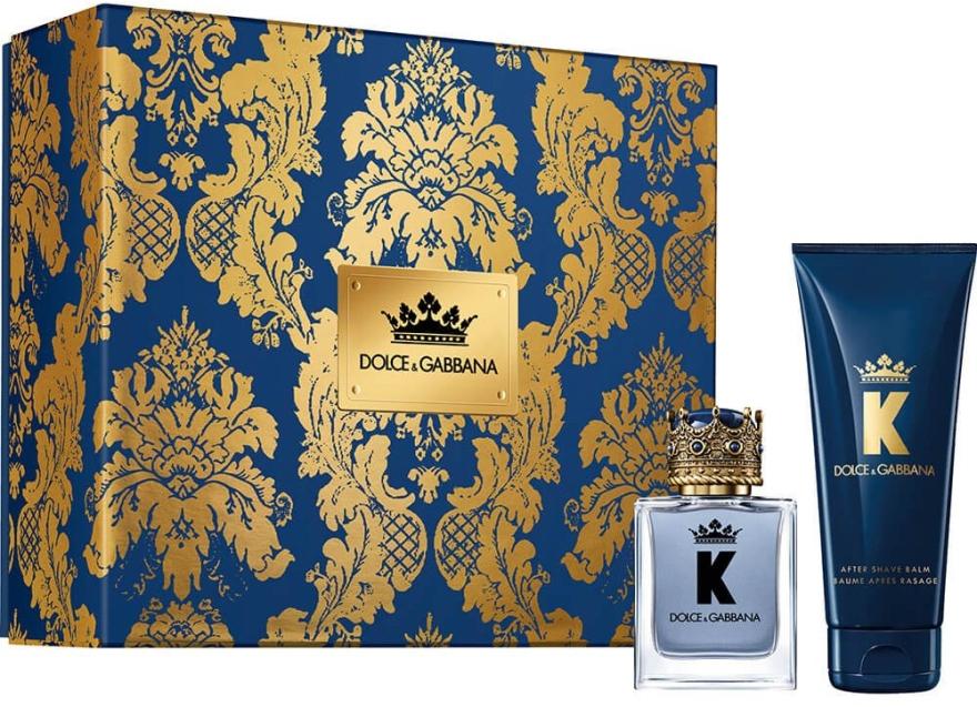 Dolce & Gabbana K by Dolce & Gabbana - Комплект (тоал. вода/50ml + афтър. балсам/75ml) — снимка N1