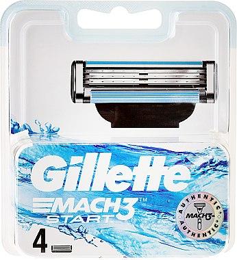 Сменяеми ножчета, 4 бр - Gillette Mach3 Start — снимка N1