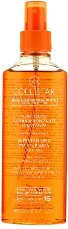 Сухо масло за интензивен тен - Collistar Supertanning Moisturizing Dry Oil SPF 15 — снимка N1