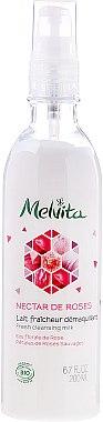 "Почистващо мляко за лице ""Розов нектар"" - Melvita Nectar de Roses Lait Fraicheur Demaquillant — снимка N1"