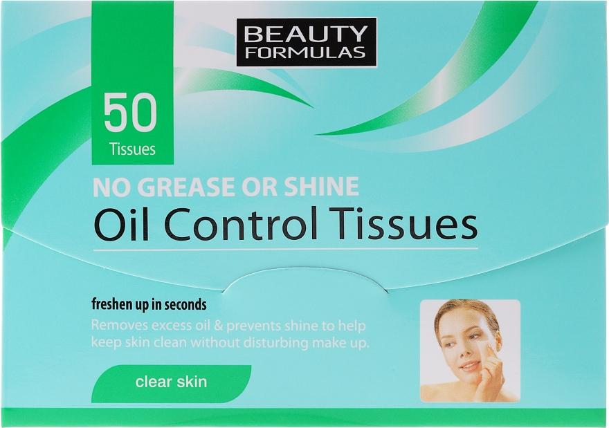 Матиращи кърпички за лице - Beauty Formulas Oil Control Tissues