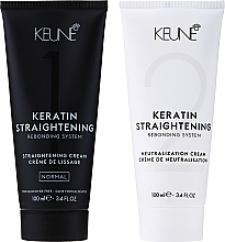 Парфюмерия и Козметика Кератинова терапия за изправяне на коса, нормална - Keune Keratin Straightening Rebonding System Normal