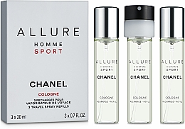 Парфюмерия и Козметика Chanel Allure Homme Sport Cologne - Одеколон (+ 2 сменных блока)