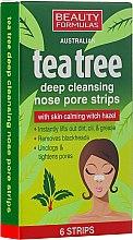 Парфюми, Парфюмерия, козметика Почистващи ленти за нос - Beauty Formulas Tea Tree Deep Cleansing Nose Pore Strips