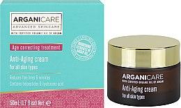Парфюми, Парфюмерия, козметика Укрепващ крем против бръчки - Arganicare Shea Butter Anti Aging Cream