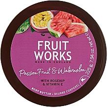 """Парфюмерия и Козметика Масло за тяло """"Маракуя и Диня"""" - Grace Cole Fruit Works Body Butter"""