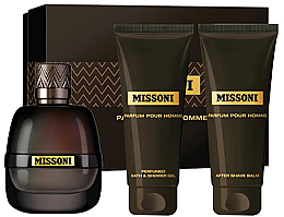 Парфюми, Парфюмерия, козметика Missoni Parfum Pour Homme - Комплект (парф. вода/50ml + душ гел/100ml + афтър балсам/100ml)