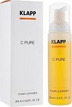 Парфюмерия и Козметика Почистваща пяна за лице с витамин С - Klapp C Pure Foam Cleanser