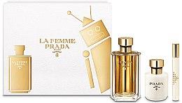 Парфюмерия и Козметика Prada La Femme Prada - Комплект (edp/100ml + b/lot/100ml + edp/mini/10ml)