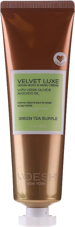 Крем за ръце и тяло със зелен чай - Voesh Velvet Luxe Vegan Body & Hand Cream Green Tea Supple — снимка N1