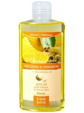 Масажно масло с екстракт от мандарина и канела + масло от макадамия - Fresh Juice Energy Tangerine&Cinnamon+Macadamia Oil — снимка N1