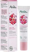 Парфюмерия и Козметика Освежаващ гел за околоочен контур - Melvita Nectar De Rose Fresh Eye-Countour Gel