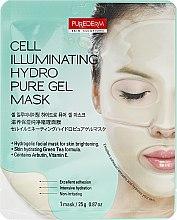 Парфюмерия и Козметика Хидрогелна маска за озарена кожа - Purederm Cell Illuminating Hydro Pure Gel Mask
