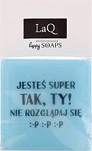 """Парфюмерия и Козметика Натурален сапун """"Мъжете също имат чувства..."""" - LaQ Happy Soaps Short Message Soap"""