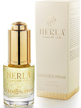 Сухо масло за лице - Herla Gold Supreme 24K Gold Face Dry Oil — снимка N2