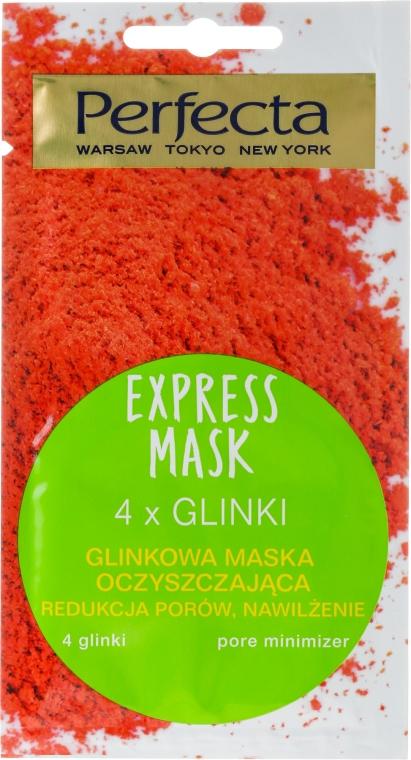 """Почистваща маска за лице """"4 глини"""" - Perfecta Express Mask"""