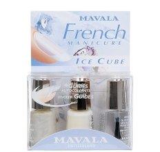 "Парфюми, Парфюмерия, козметика Комплект натурална френска маникюр ""Ice Cube"" - Mavala Kit Manucure French Natural Ice Cube (nail/2х5ml + dry/5ml)"