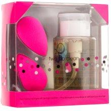 Парфюми, Парфюмерия, козметика Комплект гъби за грим и препарат за почистване на гъби за грим - Beautyblender Original (sponge/2бр. + cleaning/150ml)