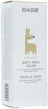 Парфюмерия и Козметика Овлажняващ и защитен детски крем за под пелени - Babe Laboratorios Nappy Rash Cream