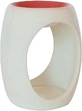 Парфюмерия и Козметика Керамична арома лампа, бяла с оранжев връх - Airpure
