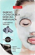 Парфюми, Парфюмерия, козметика Дълбоко почистваща кислородна маска за лице - Purederm Deep Purifying Black O2 Bubble Mask Charcoal