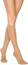 """Парфюмерия и Козметика Дамски 3/4 чорапи """"Aga"""" 20 Den, beige - Knittex"""