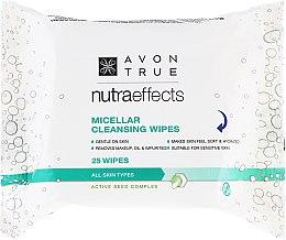 Парфюми, Парфюмерия, козметика Почистващи кърпички за лице с мицеларна вода - Avon Nutra Effects Micellar Cleansing Wipes