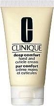 Парфюми, Парфюмерия, козметика Крем за възстановяване на ръцете и кожичките - Clinique Deep Comfort Hand and Cuticle Cream