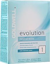 Парфюмерия и Козметика Комплект за химическо къдрене на тънка коса - Goldwell Evolution Neutral Wave 1 New