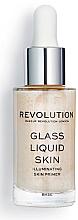Парфюмерия и Козметика Озаряваща основа за лице - Makeup Revolution Glass Liquid Skin Primer Serum