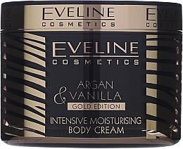 Интензивно хидратиращ крем за тяло - Eveline Cosmetics Argan & Vanilla Gold Edition Intetsive Moisturising Body Cream — снимка N1