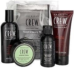 Парфюмерия и Козметика Комплект - American Crew Travel Grooming Kit (gel/100 ml + cr/50 g + sh/gel/100 ml+ sh/cr/50 ml)