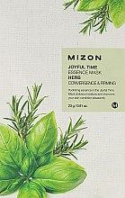 Парфюмерия и Козметика Билкова маска от плат - Mizon Joyful Time Essence Mask Herb